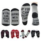 Xmas Unisex If You Can Read This Bring Me a Beer Sock Womens Mens Funny Socks EW