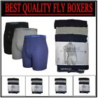 3 Pack Men's Plain Boxer Shorts Underwear Soft Ribbed,Best Quality Fly Boxers
