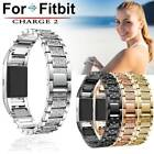 Replacement Crystal Stainless Steel Watch Band Wrist Strap For Fitbit charge 2