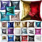 Внешний вид - 24 Color Reversible Mermaid Pillow Sequin Cover Glitter Sofa Cushion Case Double