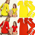 Fashion Matching mother and daughter clothes mom mommy me dress family look