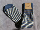 J.Crew Jcrew Men green blue tipped microstriped socks one size