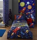Catherine Lansfield Outer Space Kids Duvet Cover Bedding Bed Set Or Accessories