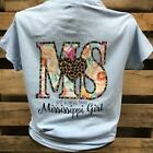 Southern Chics Mississippi State MS Small Town Girl Heart Girlie Bright T Shirt