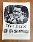 1957 Polaroid Land Camera Ad It's a Darb! Hollywood Telivision Star  Steve Allen