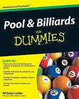 Pool and Billiards for Dummies by Consumer Dummies Staff and Nicholas Leider...