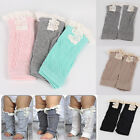 Hot Sale Kids Baby Girl Crochet Knitted Lace Boot Cuffs Toppers Leg Warmer Socks