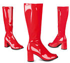 Seventies Patent Boots Red NEW - Accessory Carnival