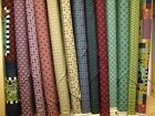 PRIMITIVE STITCHES - HENRY GLASS - PATCHWORK & QUILTING 100% COTTON FABRIC