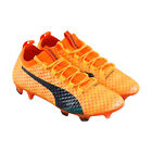 Puma Evopower Vigor 3D 1 Fg Mens Orange Synthetic Athletic Soccer Cleats