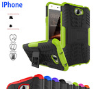 HEAVY DUTY SHOCK PROOF BUILDERS HARD CASE COVER WITH STAND FOR IPHONES