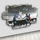C669 Rugby Players Sport Bedroom Decal Canvas 3D Smashed Hole Wall Vinyl Room