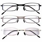Pack of 3 Pairs Stainless Steel Frame Reading Glasses For Men and Women