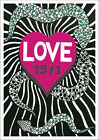 YSL LOVE 1971 POSTER: Vintage Yves Saint Laurent Anniversary Year Reprint