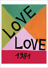 YSL LOVE 1981 POSTER: Vintage Yves Saint Laurent Anniversary Year Reprint