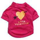 """Little Valentine"" Dog Clothes Small Dog Puppy Cat Pet T Shirt Apparel Clothes"