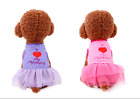 I Love Mom Pet Skirt Dog Clothes Puppy Pink Tutu Skirt Small Dog Apparel Costume