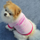 Pet Clothes Shirt Dog T Shirt Cat Poodle Puppy Bulldog Vest Coat Costume Apparel