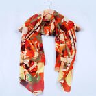 Womens Colorful Horses Printed Chiffon Silk Long Scarf Shawl Wrap,Warm