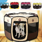 Cute Pets Dog Cat Playpen Tent Portable Exercise Fence Kennel Cage Folding Crate