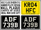 METAL PLAQUE SIGN classic or modern Number Plate style motorcycle no plates gift