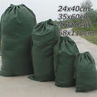 Green Canvas Drawstring Large Storage Bag Pouch Clothes Laundry Organizer 4 Size