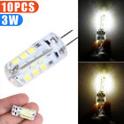 10X G4 Base SMD 3014 3W 20LED Warm White/White Light Bi-Pin Lamp LED Bulb DC12V