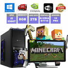 i5 Gaming PC + Monitor Bundle Minecraft Gaming PC 8GB RAM Desktop Computer 2TB