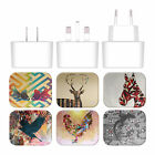 ANGELO CERANTOLA ANIMALS WHITE US CHARGER MICRO-USB CABLE FOR BLACKBERRY PHONES