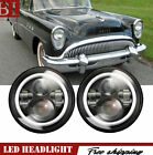 """Buick Special Sealed Beam Headlight 2PCS 7"""" Projector LED Halo Hedlamp W/ DRL"""