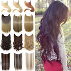 Wire in Hair Extensions Invisible Elastic Wire No Clips Straight Curly Hair FH9