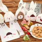 20Pcs Cute Animal Cookie Plastic Candy Biscuit Packaging Bag Wedding Gift