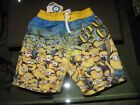 NWT Boys Size Small (4/5) Dispicable Me - Gru's Crew - Swim Trunks, Shorts  UV50