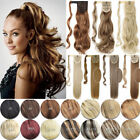 AU Pro Silky Long Wrap Around Clip in Ponytail Hair Extentions Blonde Brown F3K