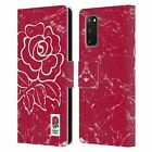 ENGLAND RUGBY UNION 2017/18 MARBLE LEATHER BOOK WALLET CASE FOR SAMSUNG PHONES 2