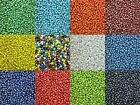 50g glass seed beads - Opaque Lustered, size 6/0 (approx 4mm) -choice of colours
