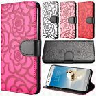 LG Tribute Dynasty Prime ROSE Leather Wallet Case Pouch Flip Cover +Screen Guard