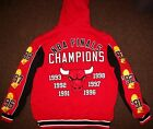 CHICAGO BULLS 6 TIME NBA FINALS CHAMPIONSHIP Hooded Jacket S M L XL 2X on eBay
