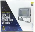 LED Floodlight PIR 10W 20W 30W 50W Security Light Slimline Waterproof IP65