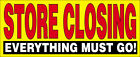 STORE CLOSING Vinyl Banner Clearance Sale Sign 2, 3, 4, 6, 8, 10, 12, 20  Ft yb