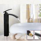 Waterfall Spout Bathroom Sink Vessel faucets Tap Oil Rubbed Bronze/Brushed Nicke