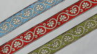 "1.20"" (3.04 Cm) wide By The Yard Jacquard Trim Woven Border Sew Ribbon T817"