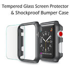 For Apple Watch Series 3 38/42mm Snap On Bumper Hard Case Cover+Screen Protector