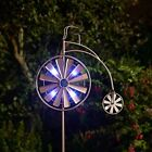 Metal Wind Spinner Solar Light Garden LED Windmill Spinning Decoration Ornament