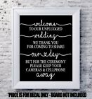 wedding decal Welcome unplugged personalized vinyl sign mirror chalk board