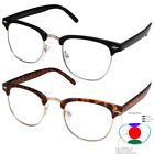 Multifocal Reading glasses NO Line Progressive Clear Lens half rimless bifocal