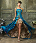 Masquerade Pageant Ball Gown Prom Cocktail Party Wedding Formal Evening Dress ~