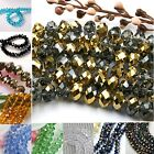 8mm Crystal Faceted Abacus Rondelle Glass Loose Beads Craft Findings DIY