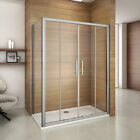 Luxury Double Sliding Shower Enclosure Door Glass Cubicle Screen Panel and Tray