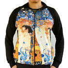 Gustav Klimt Mother Child Age Woman Nouveu Track Jacket Shirt Men Fine Art Print